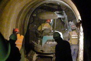 トンネル工事の視察